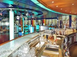 beautiful bar on a cruise ship
