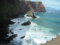 Madeira east coast ocean