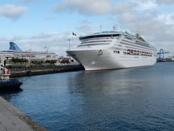 cruise ship in port of Gran Canaria