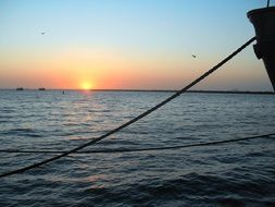 sunset at Walvis bay