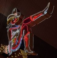 cowgirl neon sign in las vegas