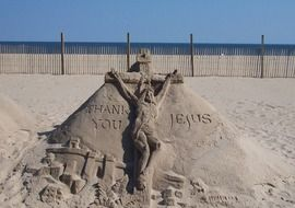 incredibly attractive sand art sculpture