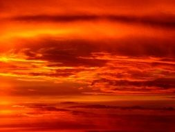 red color sunset sun sky clouds