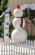 snowman snow christmas winter