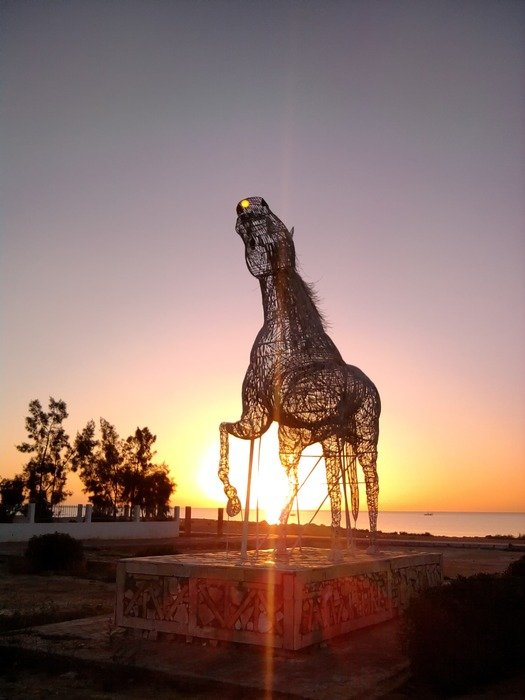 Horse sculpture in Tunisia