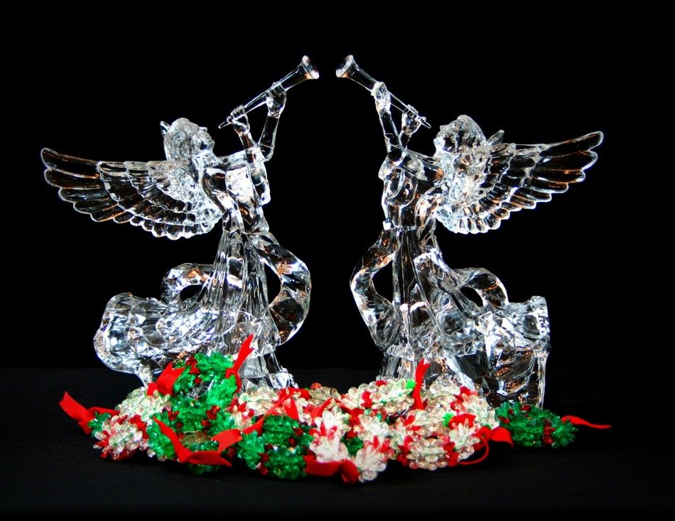Christmas angels glass ornaments