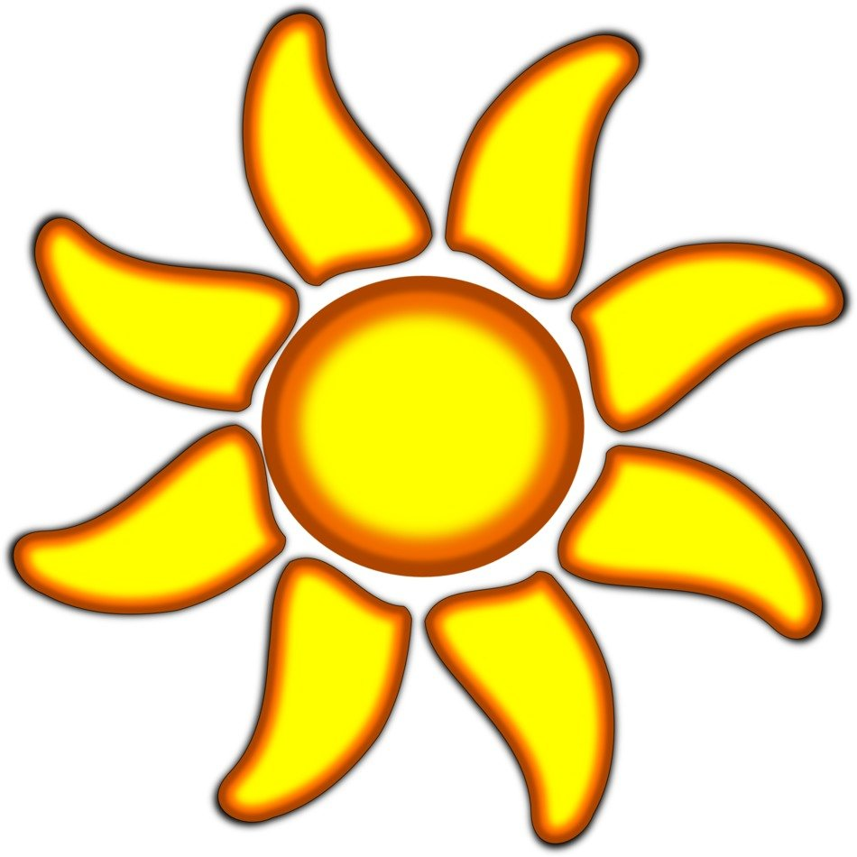 Yellow sunflower clipart