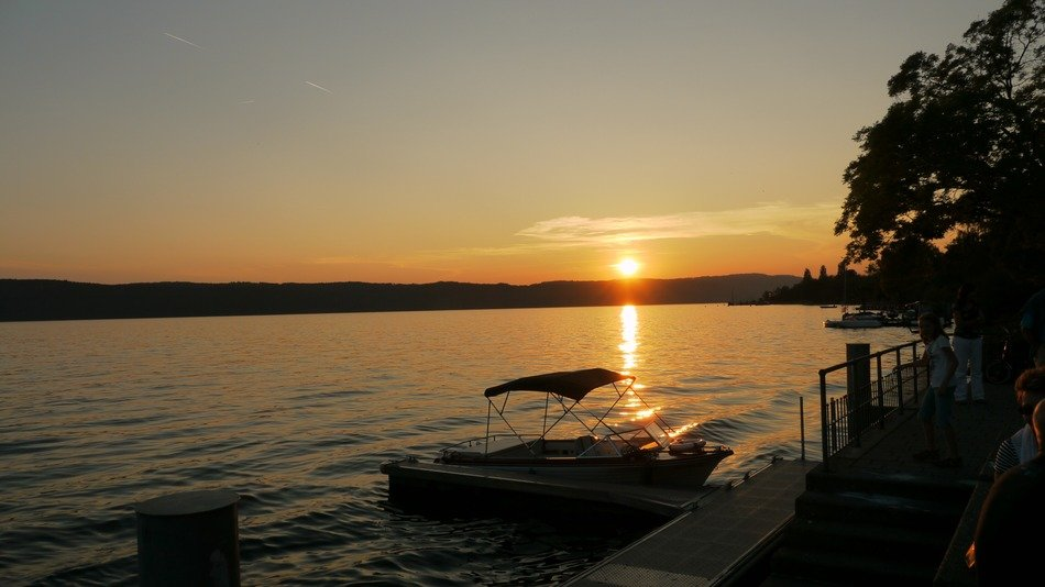 sunset on the lake Constance