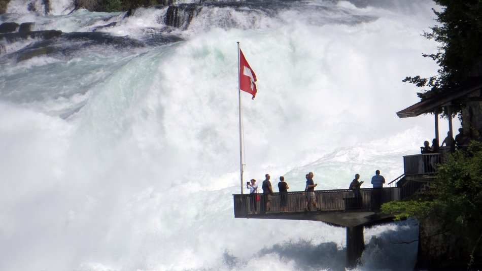 Rhine Falls water observation deck