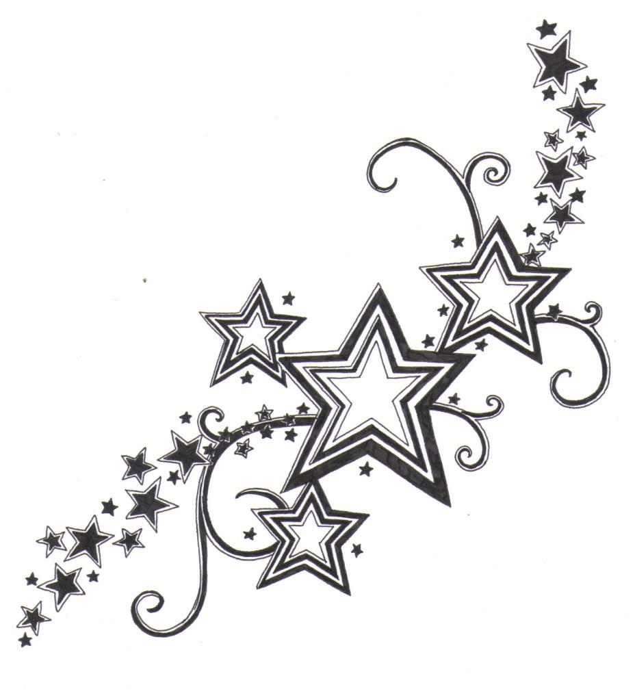 Hearts And Stars Drawing Free Image