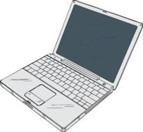 Cartoon grey laptop clipart