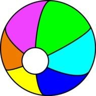 multi-colored beach ball as a graphic image