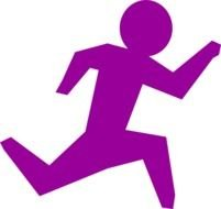 Running Person Purple drawing