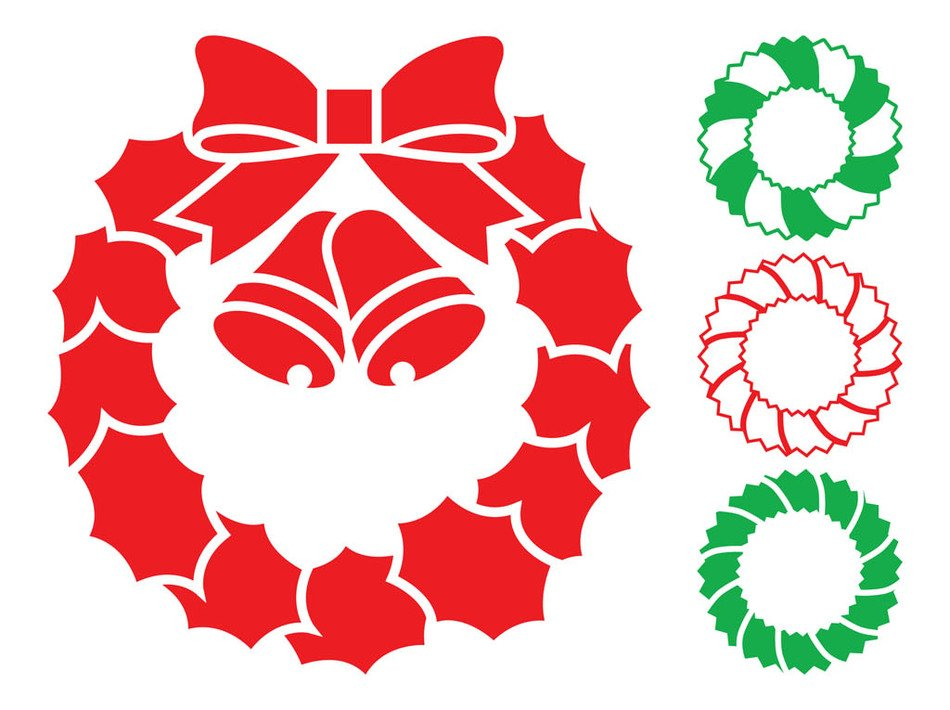 graphic Christmas wreaths