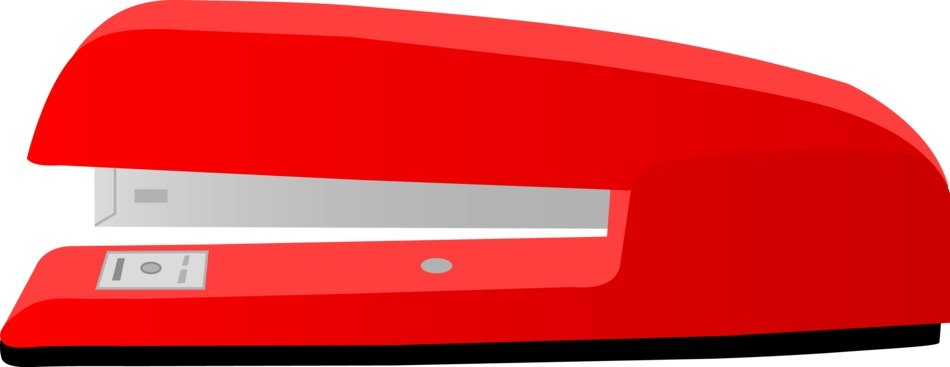 Large Red Office Stapler drawing
