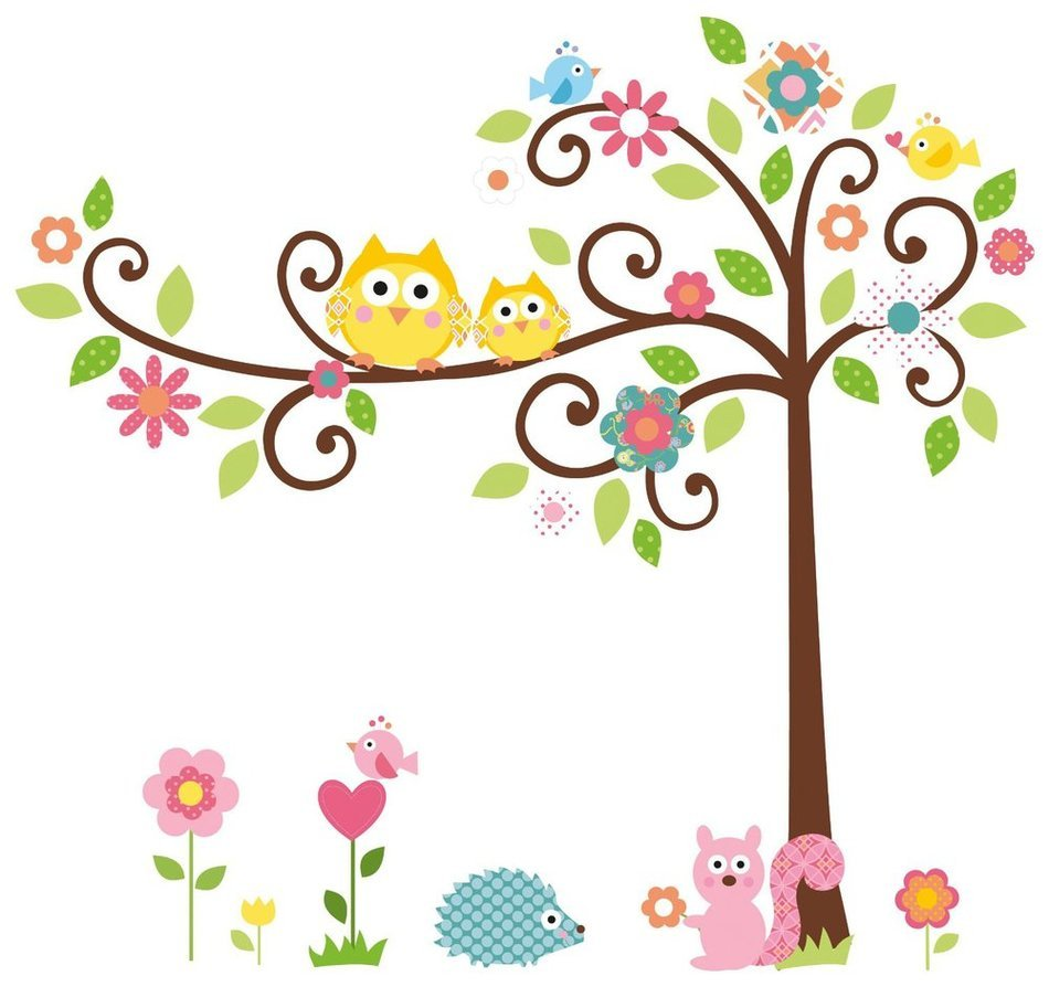cute tree and animals