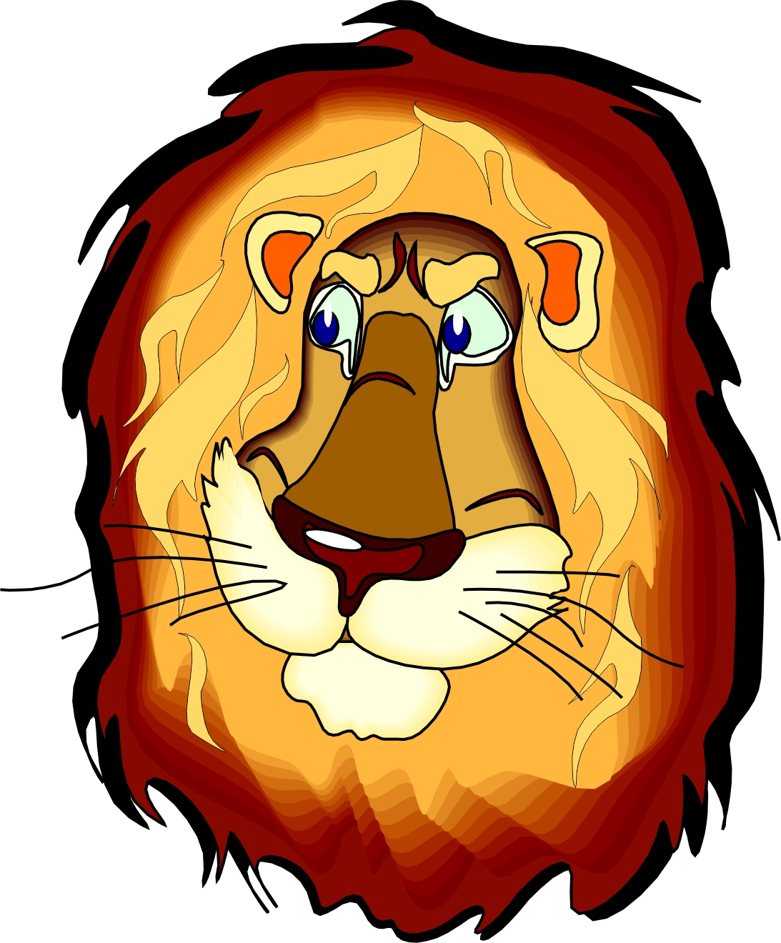 Cartoon Lion Head Frees That You Can Download To Clipart Free Image