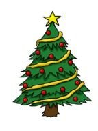 Christmas tree as a picture for clipart