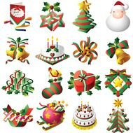 variety of christmas attributes as picture for clipart
