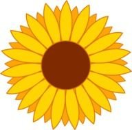 Simple Yellow Sunflower Design Free clipart N2