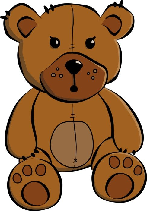 brown teddy bear on the white background