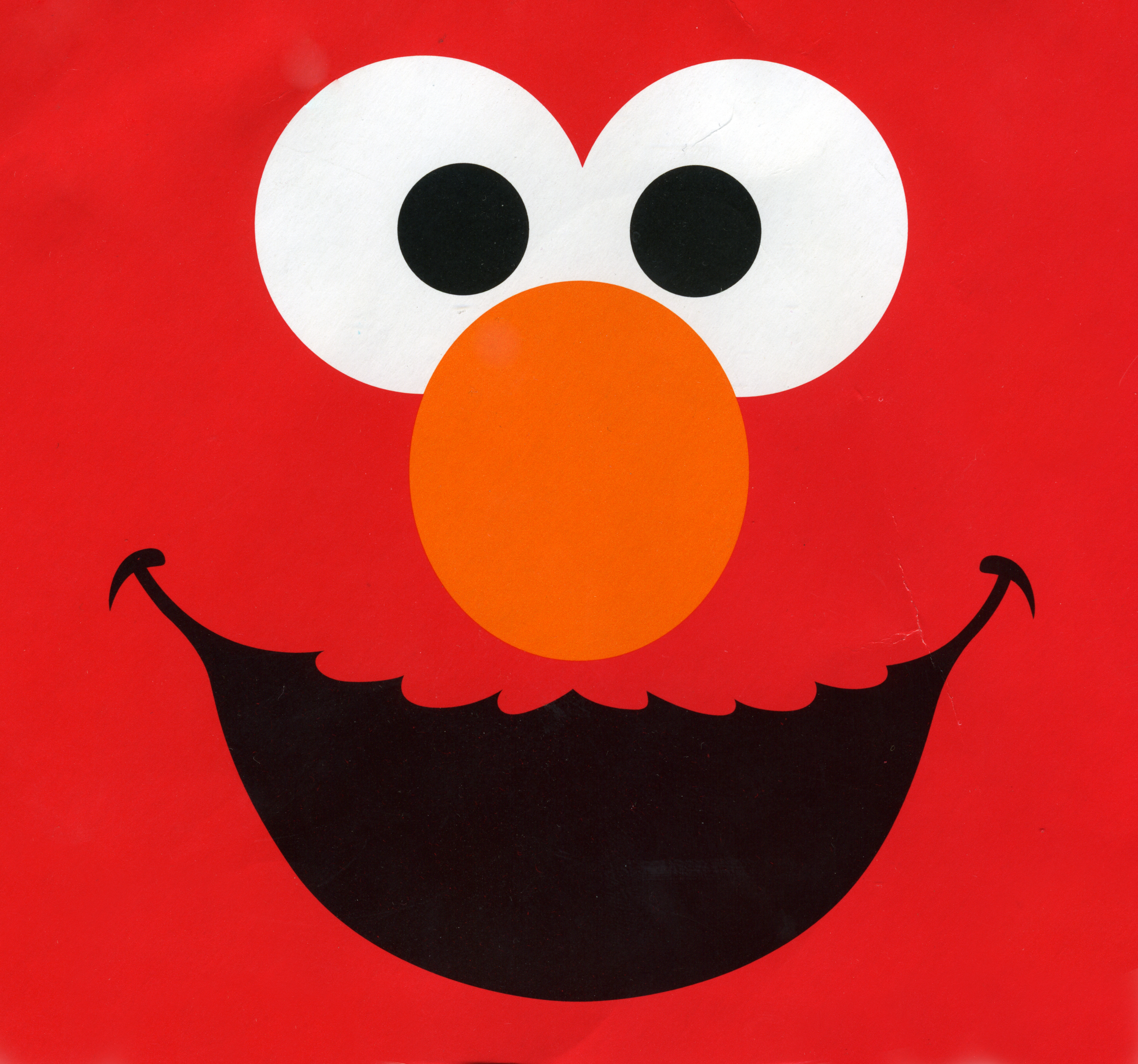 Elmo Red Face Drawing Free Image