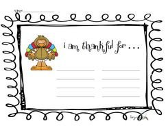 I Am Thankful List drawing