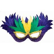 purple feather carnival mask