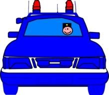 blue Police Car drawing