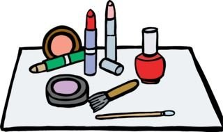 Makeup accessories, drawing