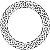 Clip art of the circle tattoo design