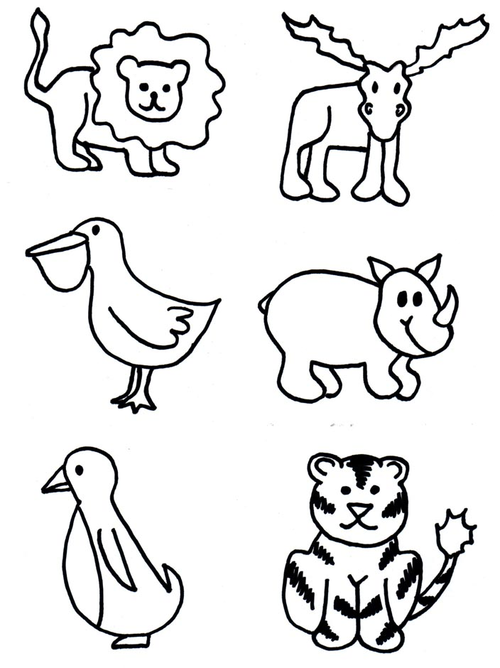 Download And Print These Animal Shapes To Cut Out Coloring ...
