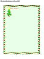 Christmas tree and colorful frame clipart
