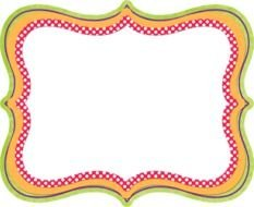 clipart of the colorful frame