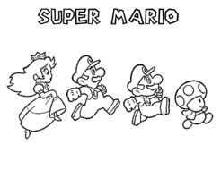 Super Mario Princess Peach Coloring Pages Free Image