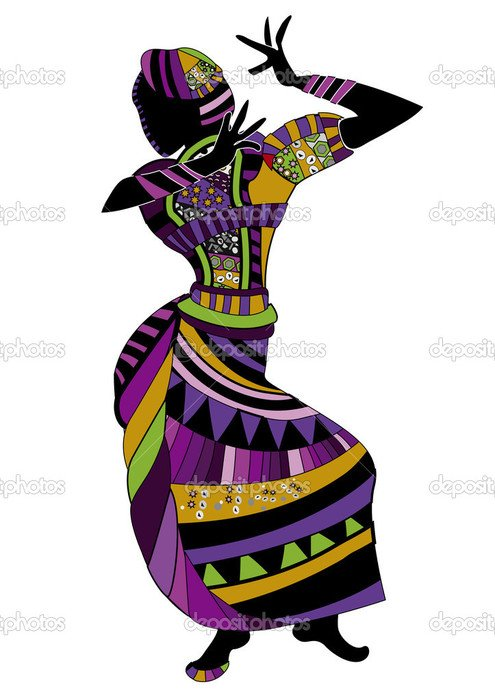 African Dancing Woman Clipart