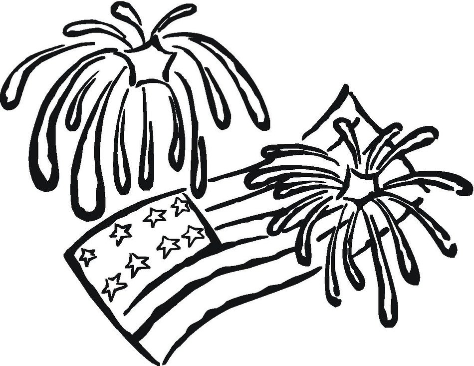 Free Printable Fireworks Coloring Pages For Kids free image