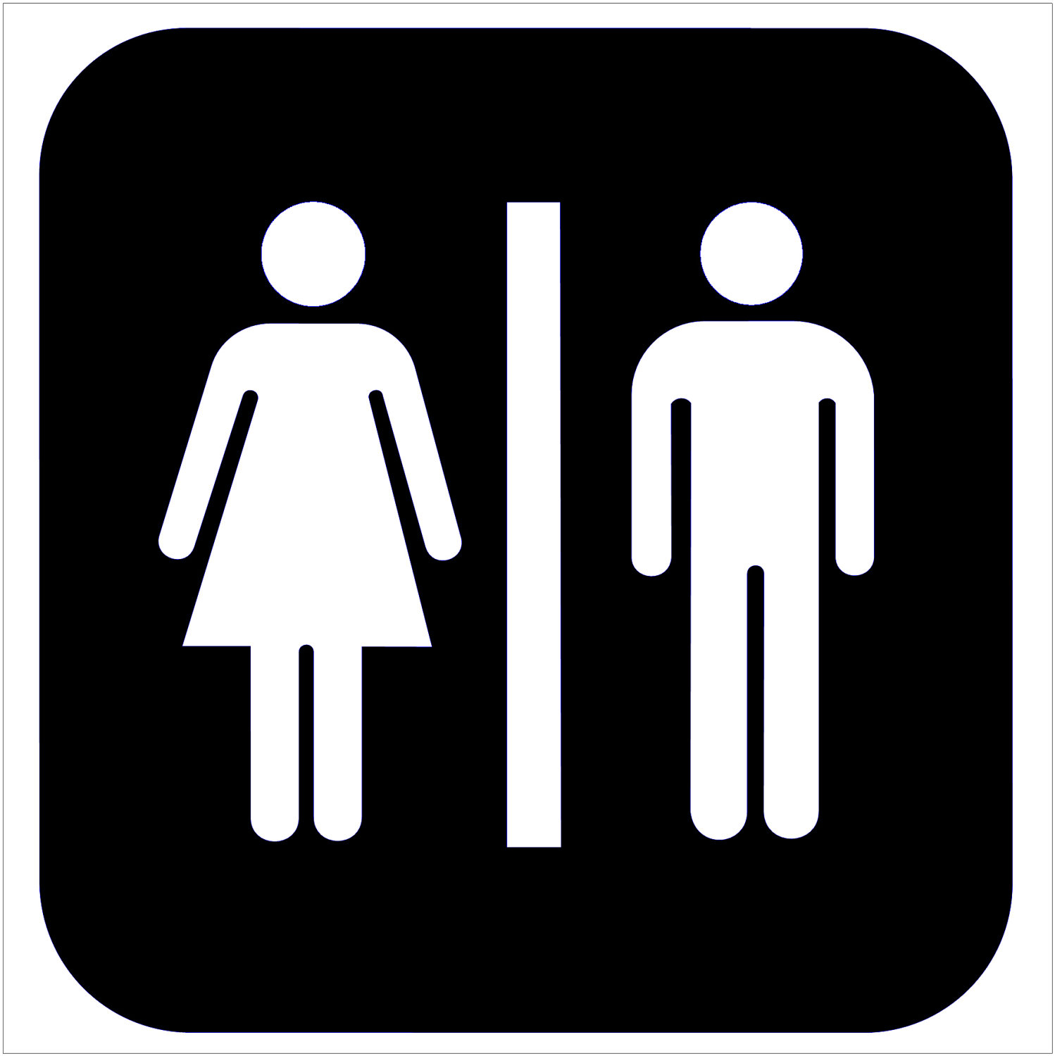 image about Bathroom Sign Printable referred to as 15 Uni Toilet Signal Printable Frees That Oneself Can