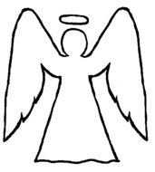 coloring page with angel figure