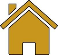 Gold house clipart
