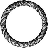 black and white rope circle