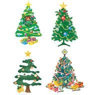 picture of christmas trees of different types
