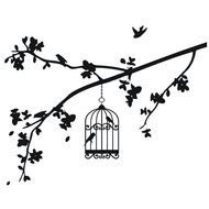 Birdcage And Branches drawing