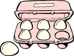 clipart of the open egg box