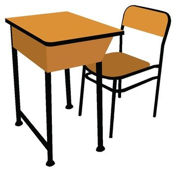 teacher desk and chair