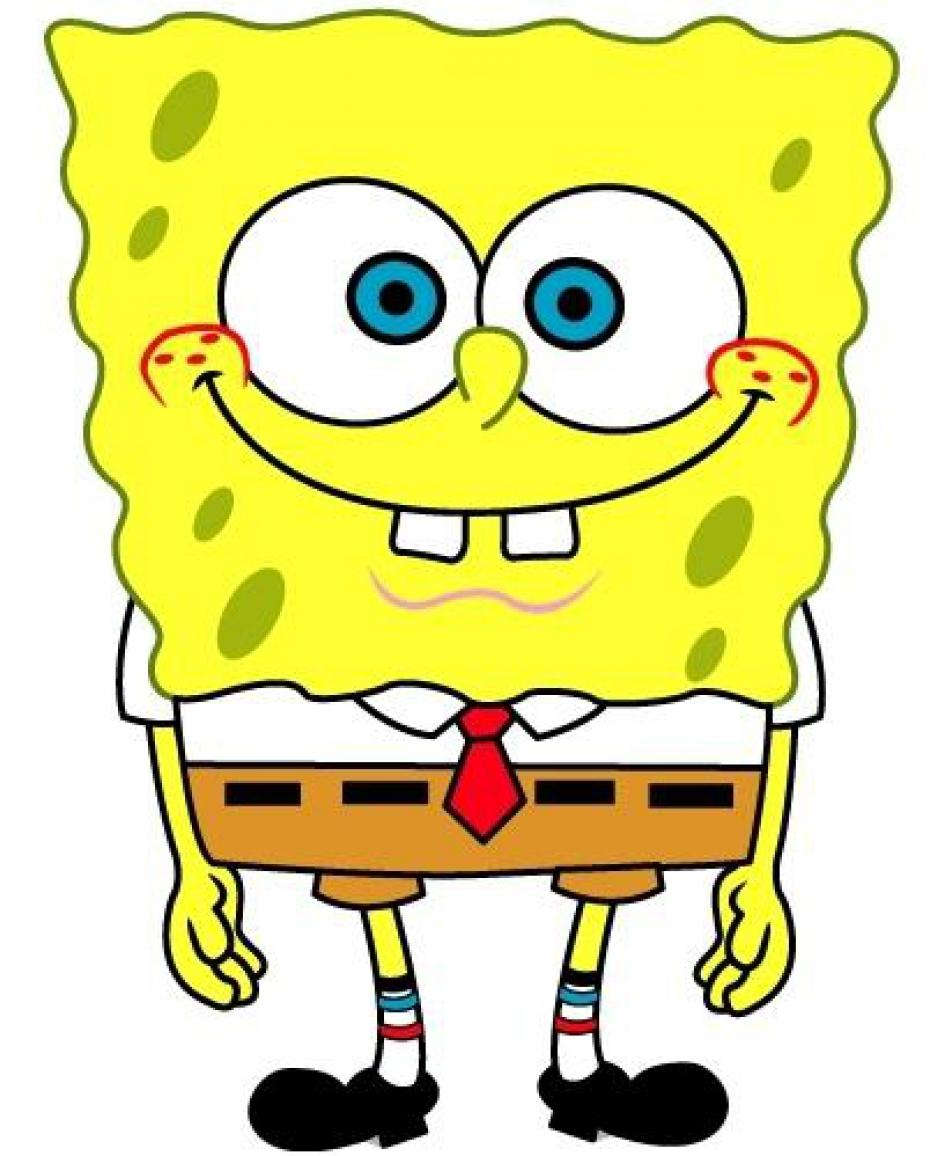 Spongebob character on a white background free image