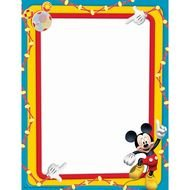 color frame with mickey mouse pattern
