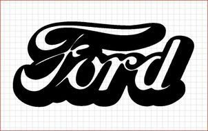 logo Ford drawing