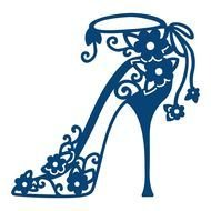Lace High Heel Bella Shoe, drawing