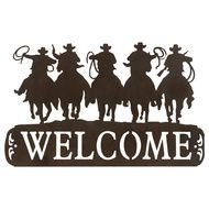 Tin Cowboy Welcome Sign